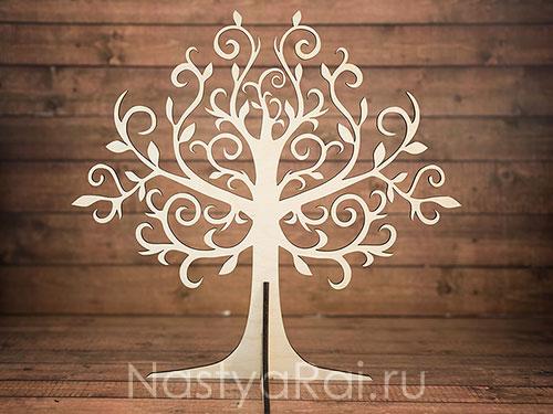 Объемное дерево для пожеланий в стиле рустик