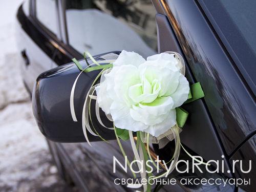 Свадебное украшение на ручку машины своими руками