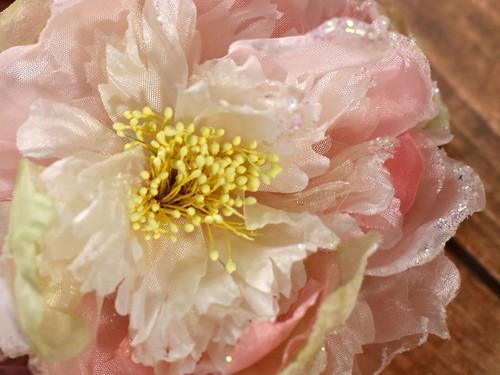 Цветок на ручки свадебного авто, розовый