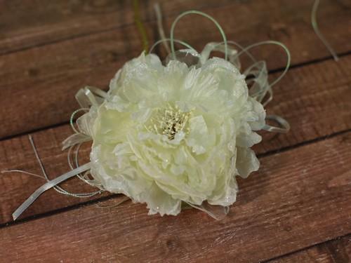 Цветок на ручки свадебного авто, кремовый