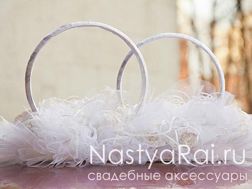 Белые свадебные кольца