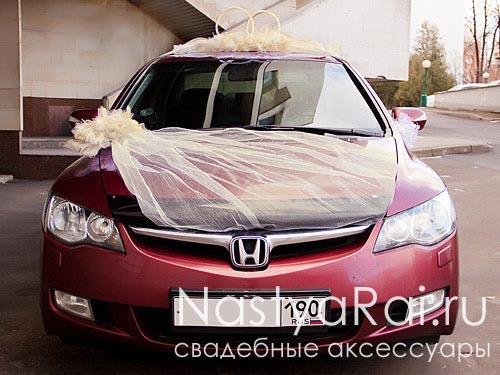 Свадебные украшения на машину, лимузин, украшения автомобиля