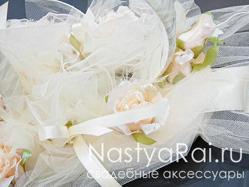 Декор для свадебного автомобиля, кремовый