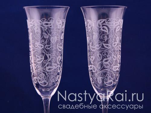 Свадебные бокалы с рисунком