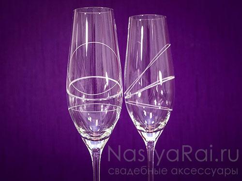 """Фужеры для шампанского """"Бриллиант"""""""