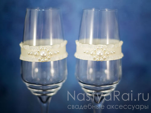 "Бокалы для шампанского ""Жемчуг"""