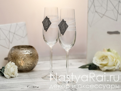 """Бокал для шампанского """"Геометрия"""""""