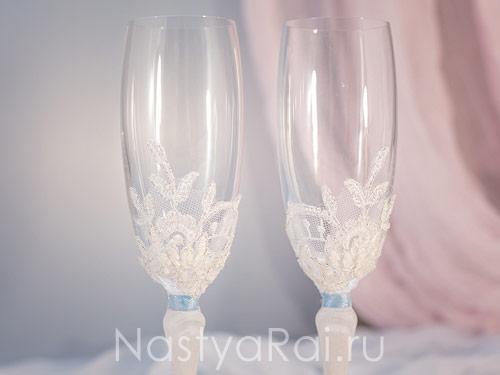 Красивые бокалы на свадьбу