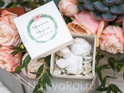Бонбоньерка коробочка для конфет