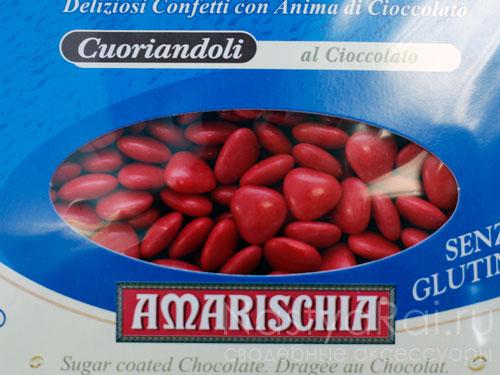 Конфеты для бонбоньерок, красные