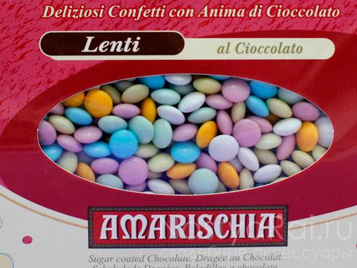 Цветное драже с шоколадом