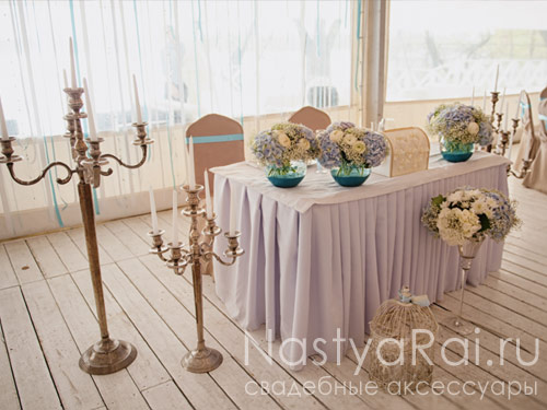 Свадебный сундук с бантами Айвори