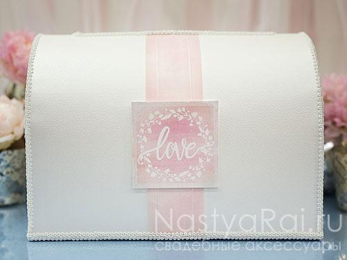 """Коробка для конвертов """"Розовая акварель"""""""