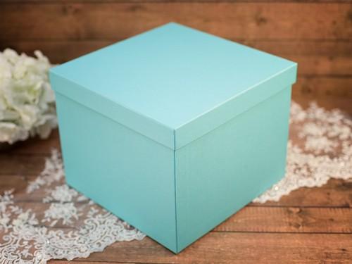 Коробка для конвертов квадратная, бирюзовая