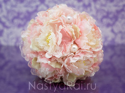 Букет-дублер из розовых пионов