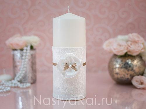 """Свадебные свечи """"Карамель"""""""