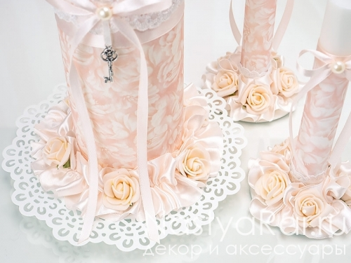 """Свадебные свечи """"Шебби Шик"""""""