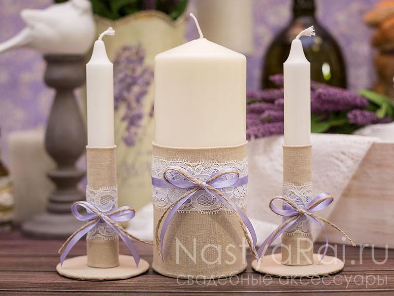 Свечи для домашнего очага на свадьбу