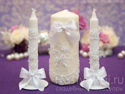 Украсить свечи своими руками