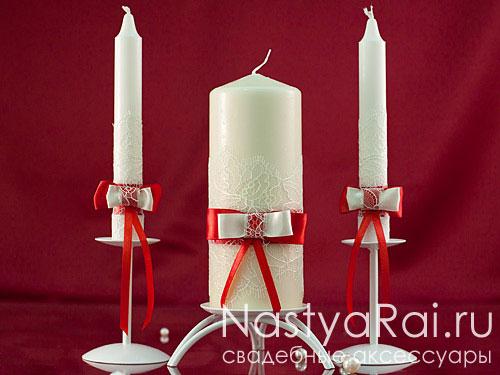 Делаем свадебные свечи