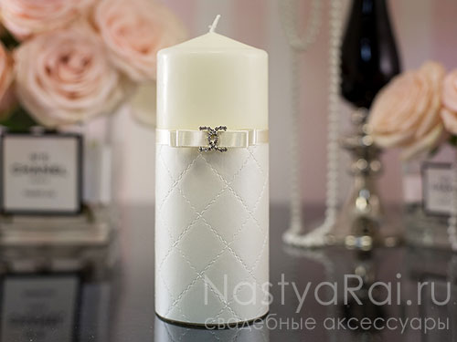 """Свадебные свечи """"Шанель"""""""