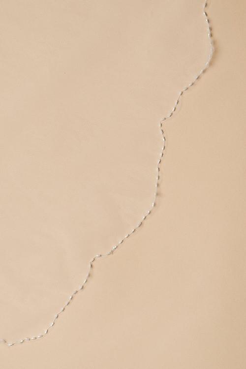 Фата двухслойная с бисером по краю