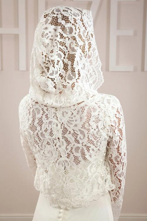 Свадебная накидка с капюшоном  SH011