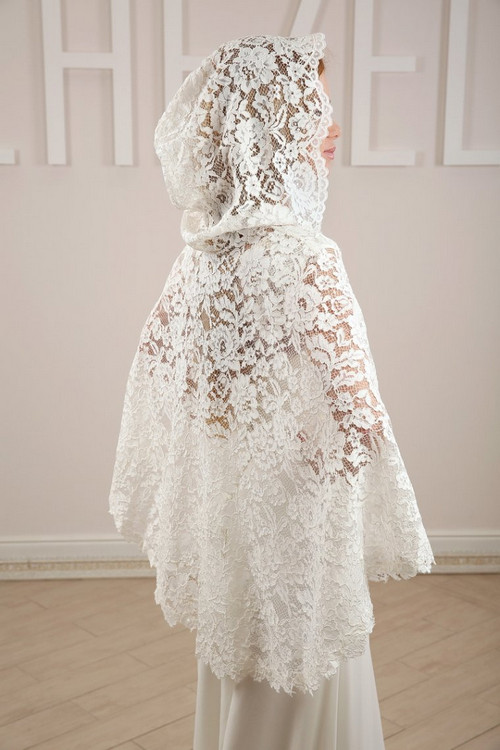 Свадебная накидка с капюшоном  SH010