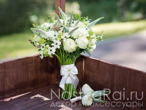 Современный букет невесты в стиле Эко