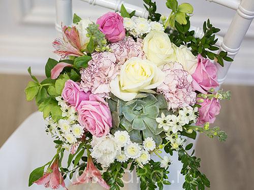 Нежный букет невесты с суккулентом
