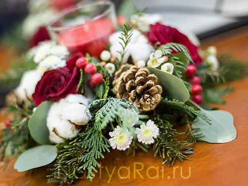 Зимняя композиция на гостевой стол