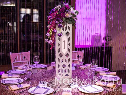 Композиция на стол гостей-геометрия