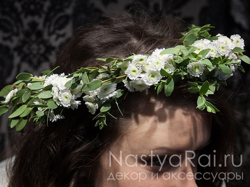 Рустикальный венок для подружки невесты