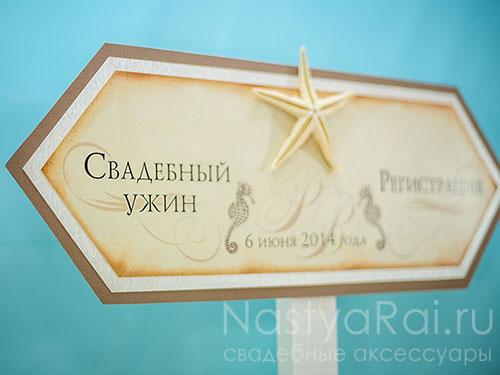 """Табличка-указатель в морском стиле """"Кипр"""""""