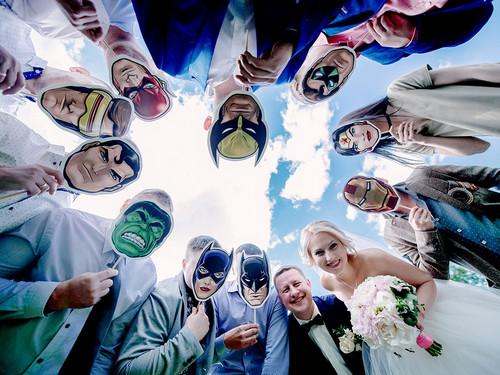 Набор из 10 масок супергероев