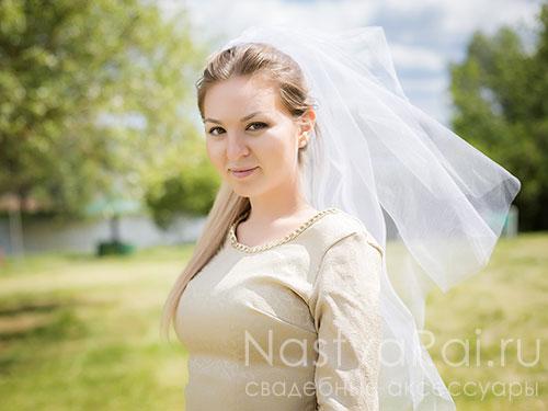 Белая фата для девичника