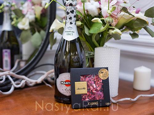 Набор Шампанское + шоколад ручной работы
