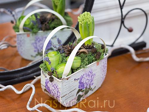 Корпоративный подарок с гиацинтами