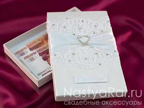 Оформление коробочки для денег на свадьбу