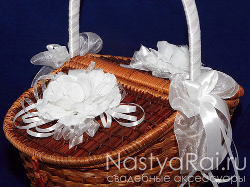 Корзина для пикника с белыми розами