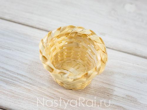 Корзиночка для подарков гостям, круглая