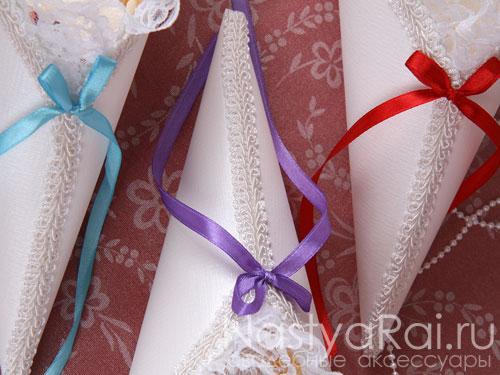 Свадебные кулечки для лепестков