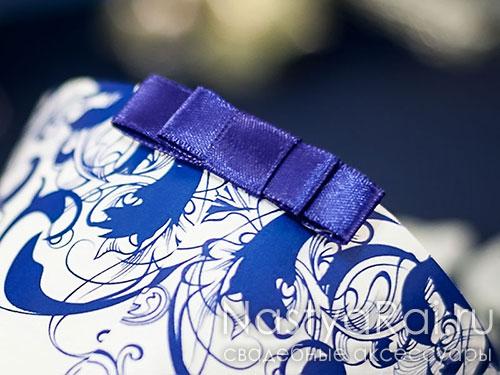 Кулечек с синим узором