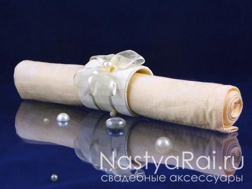 Кольцо для салфеток - жемчуг
