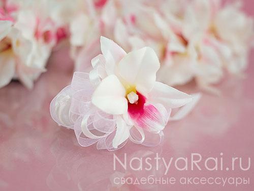 """Украшение на руку """"Белая орхидея"""""""