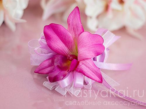 """Украшение на руку """"Розовая орхидея"""""""
