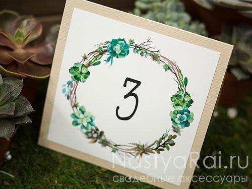 """Номер стола """"Ботаника"""""""