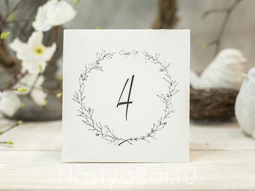 На столы таблички на свадьбу