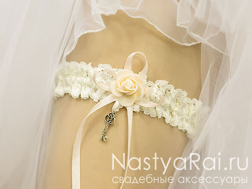 "Подвязка невесты ""Шебби Шик"""