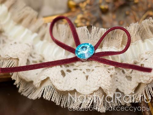 """Подвязка для невесты в стиле """"Бохо"""""""